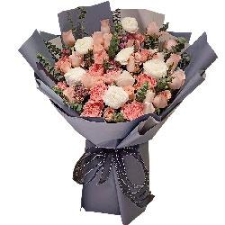 21朵戴安娜粉玫瑰,幸福到老