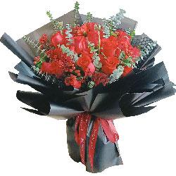 21朵红玫瑰,见证我们的爱情