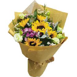 5朵向日葵,9朵桔梗,愿你快快快乐乐