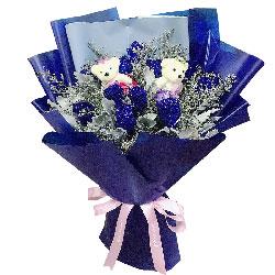 11朵蓝玫瑰,让我的心跳起来