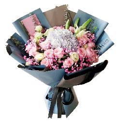18朵戴安娜粉玫瑰,幸福永相依