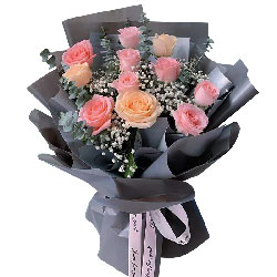 11朵玫瑰混搭,痴情的人