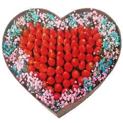 99颗草莓礼盒,天天快乐甜蜜