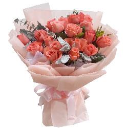 19朵粉玫瑰,有你有温暖