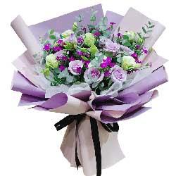 11朵紫玫瑰,9朵桔梗,今生的爱