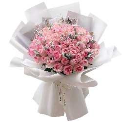 52朵戴安娜粉玫瑰,我对你既爱又喜欢