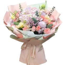 19朵戴安娜粉玫瑰,我愿一辈子去爱你