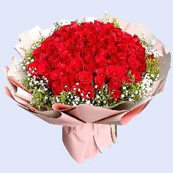 99朵红玫瑰,爱恋的升华