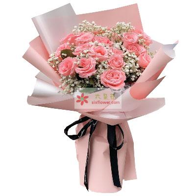 19朵戴安娜粉玫瑰,眼中只有你