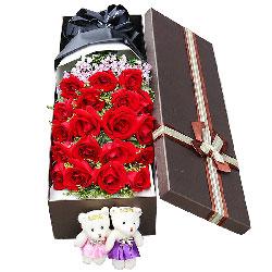19朵红玫瑰礼盒,爱你今世不变