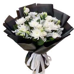 11朵白色菊花,愿您走入天国的怀抱