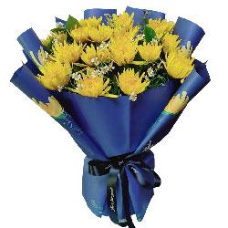 17朵黄色菊花,愿死者安息