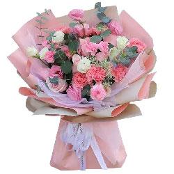 11朵戴安娜粉玫瑰康乃馨,愿你福星高照