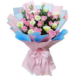 18朵戴安娜粉玫瑰,一生一世的承诺