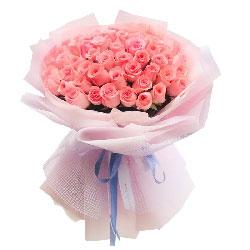52朵戴安娜粉玫瑰,说来就来的恋情