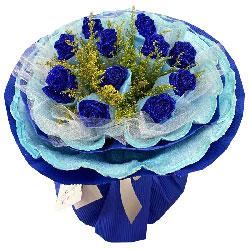 11朵蓝玫瑰,爱你爱得很深