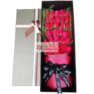 33朵红玫瑰礼盒,飞不出你编织的经纬