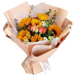 6朵向日葵,祝福你天天走鸿运
