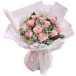 11朵戴安娜粉玫瑰,忘不掉你温柔瞬间