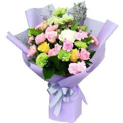 18朵粉色康乃馨,情意越久越浓
