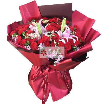 50朵红色康乃馨,生活不老