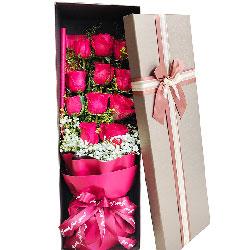 12朵红玫瑰礼盒,永远陪伴你左右