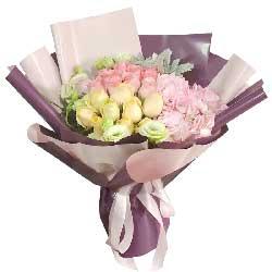 19朵玫瑰绣球花,爱你永远不会放弃