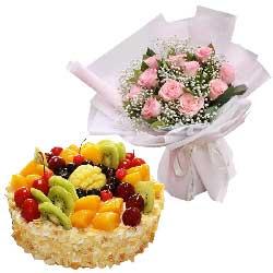 11朵戴安娜粉玫瑰蛋糕,你就是我要找的那个人