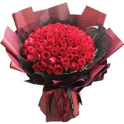 99朵红玫瑰,此情不渝