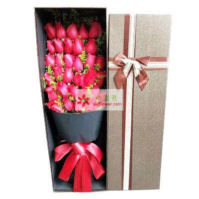 33朵红玫瑰礼盒,遇见你一辈子