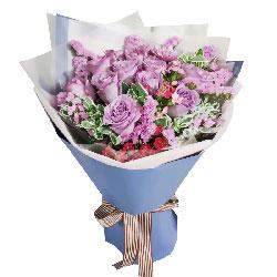 11朵紫玫瑰,爱你到永远浪漫一生