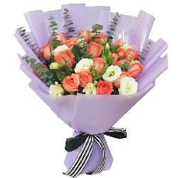 16朵粉玫瑰,爱你伴你海角天涯
