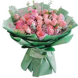 30朵戴安娜粉玫瑰,爱你永不变