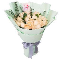 25朵香槟玫瑰,有你才有美好和幸福