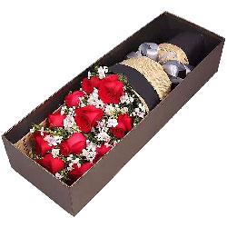 11朵红玫瑰礼盒,情似海深