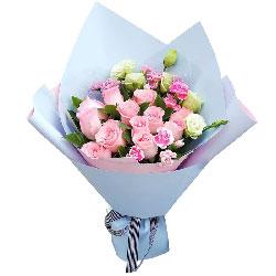 12朵戴安娜粉玫瑰,每一个梦里都有你