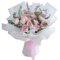 19朵戴安娜粉玫瑰,牵手一起走