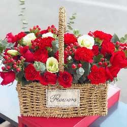 19朵红玫瑰花篮,永远年轻