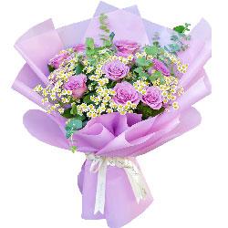 11朵紫玫瑰,甜蜜的微笑