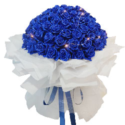 99朵蓝玫瑰,爱你在每一寸光阴