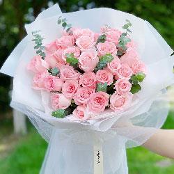 33朵戴安娜粉玫瑰,牵手一世的幸福