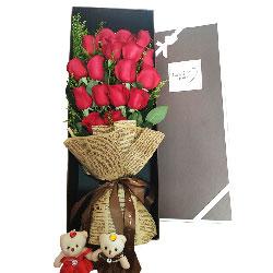 17朵红玫瑰礼盒,为爱情抒万千缱绻