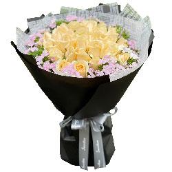20朵香槟玫瑰,你就是我生命里全部