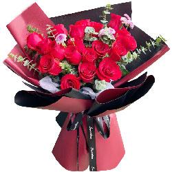 21朵红玫瑰,你的笑容是最美的