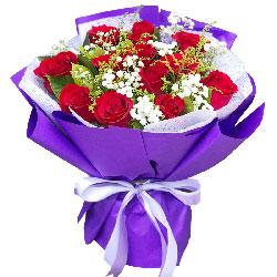 12朵红玫瑰,神圣的爱