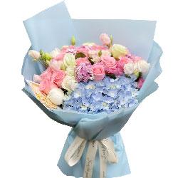 11朵戴安娜绣球花,想你好想你