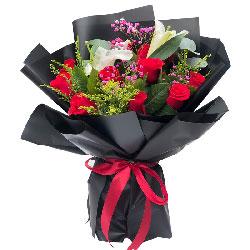 11朵红玫瑰百合,一千遍我爱你