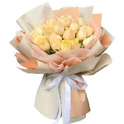17朵香槟玫瑰,一生一世在一起
