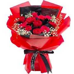 12朵红玫瑰,一生的美好和幸福