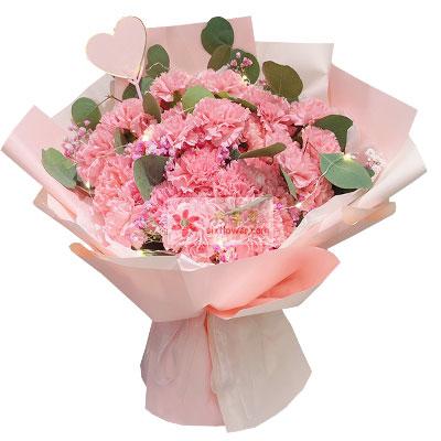 33朵粉色康乃馨,祝愿您一切安好
